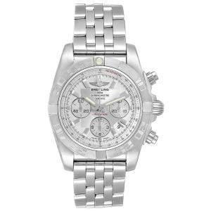 ساعة يد رجالية بريتلينغ كرونومات 01 أوتوماتيك كرونوغراف ايه بي0110 ستانلس ستيل فضية 43.5 مم