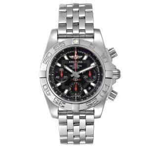 ساعة يد رجالية بريتلينغ كرونومات افولوشن إصدار محدود ايه بي0141 ستانلس ستيل سوداء 41 مم