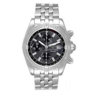 ساعة يد رجالية بريتلينغ كرونومات افوليوشن ايه13356 ستانلس ستيل رمادية 43 مم