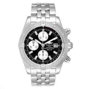 ساعة يد رجالية بريتلينغ كرونومات افوليوشن ايه13356 ستانلس ستيل سوداء 43 مم
