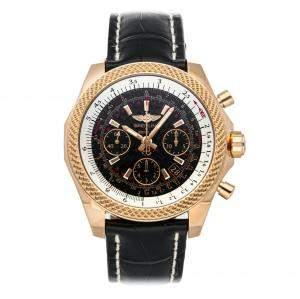 """ساعة يد رجالية بريتلينغ """"بينتلي بي06 أس كرونوغراف أربي061221/بي اي24"""" ذهب وردي عيار 18 سوداء 44 مم"""