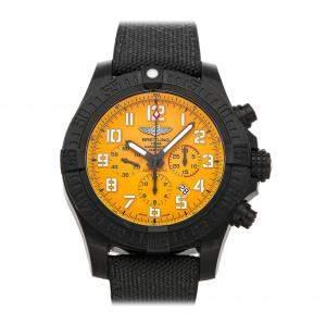 """ساعة يد رجالية بريتلينغ """"بريتلينغ افينغر هوريكان اكس بي0170اي4/آي533"""" بريتلايت صفراء 50 مم"""