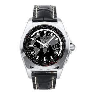 ساعة يد رجالية بريتلينغ غالاكتك يوني تايم WB3510U4/BD94 ستانلس ستيل سوداء 44مم