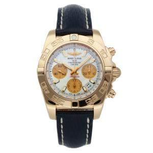 ساعة يد رجالية بريتلينغ كرونومات HB014012/A722 ذهب وردي عيار 18 صدف 41 مم