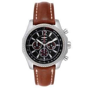 """ساعة يد رجالية بريتلينغ """"بينتلي بارناتو كرونوغراف ايه41390"""" ستانلس ستيل سوداء 42 مم"""