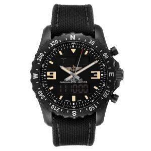 """ساعة يد رجالية بريتلينغ """"كرونوسباس ميليتاري جي إم تي إم78366"""" فولاذ أسود سوداء 46 مم"""