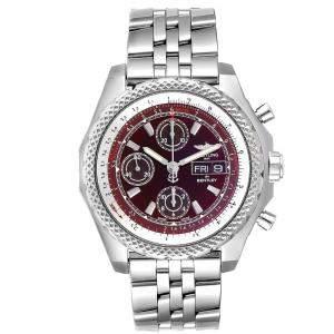 ساعة يد رجالية بريتلينغ بنتلي موتورز GT II A13365 ستانلس ستيل حمراء 45 مم