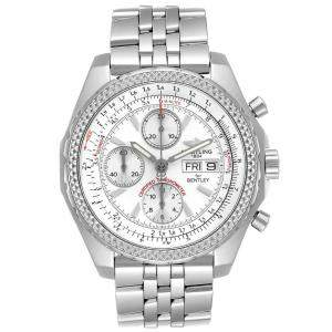 Breitling White Stainless Steel Bentley Motors GT Chronograph A13362 Men's Wristwatch 43 MM