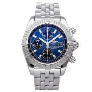 Breitling Blue Stainless Steel Chronomat Evolution A1335611/C805 Men's Wristwatch 44 MM