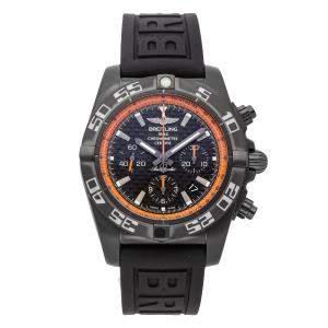 Breitling Black Blacksteel Chronomat MB01111A/BG17 Men's Wristwatch 44 MM