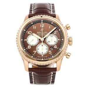 Breitling Brown 18K Rose Gold Navitimer 8 B01 Chronograph RB0117131/Q1P1 Men's Wristwatch 43 MM