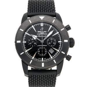 Breitling Black Ceramic Superocean Heritage Chronoworks Limited Edition SB0161E4/BE91 Men's Wristwatch 46 MM