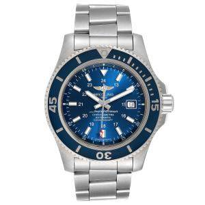 Breitling Blue Stainless Steel Superocean II Automatic Chronograph Men's Wristwatch 44 MM