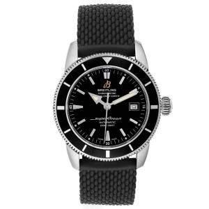 Breitling Black Stainless Steel Superocean Heritage A17321 Men's Wristwatch 42 MM