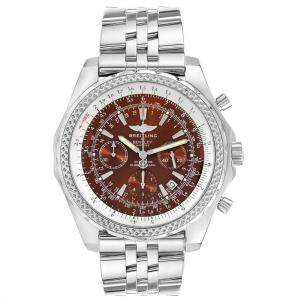 Breitling Bronze Stainless Steel Bentley Motors Chronograph A25362 Men's Wristwatch 49 MM