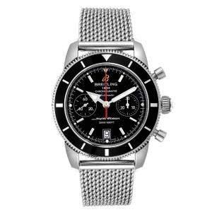 Breitling Black Stainless Steel SuperOcean Heritage 23370 Men's Wristwatch 44 MM