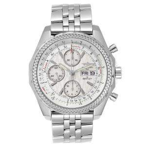 Breitling Silver Stainless Steel Bentley Motors GT Special Edition A13362 Men's Wristwatch 44MM