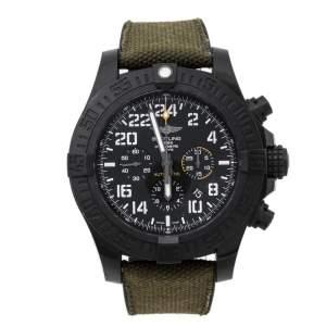 ساعة يد رجالية برتلينغ افنغر هوريكان أكس بي1210أيي-4بي أيي89155 مطاط كانفاس بوليمر سوداء 50 مم