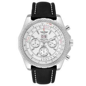 Breitling Silver Stainless Steel Bentley 6.75 Speed Chronograph A44364 Men's Wristwatch 49 MM