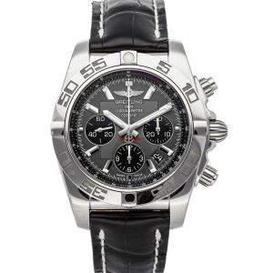 Breitling Gray Stainless Steel Chronomat AB011012/F546 Men's Wristwatch 44 MM