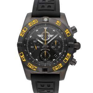 Breitling Black Black Steel Chronomat Jet Team Limited Edition MB01109P/BD48 Men's Wristwatch 44 MM
