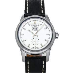 Breitling MOP Diamonds Stainless Steel Transocean A1631012/A765 Men's Wristwatch 38 MM