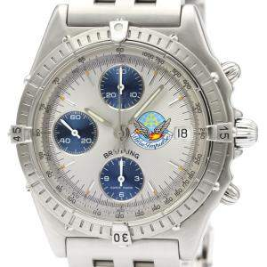 Breitling Silver Stainless Steel Chronomat Chronograph Automatic A13048 Men's Wristwatch 40 MM