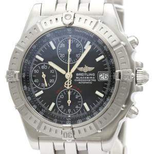 Breitling Black Stainless Steel Chronomat Black Bird Automatic A13353 Men's Wristwatch 40 MM