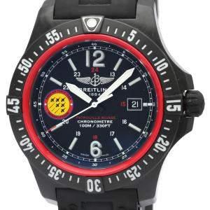 Breitling Black Plastic Colt Skyracer Patrouille Suisse Quartz X74320 Men's Wristwatch 45 MM