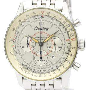 Breitling Silver Stainless Steel Navitimer Automatic A41030 Men's Wristwatch 38 MM