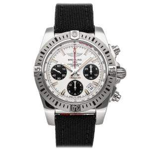 Breitling Silver/Black Stainless Steel Chronomat Airborne Edition AB01442J/G787 Men's Wristwatch 41 MM
