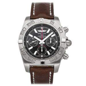 Breitling Black Stainless Steel Chronomat Flying Fish AB011010/BB08 Men's Wristwatch 44 MM
