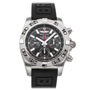 Breitling Black Stainless Steel Chronomat Flying Fish AB011610/BB08 Men's Wristwatch 44 MM
