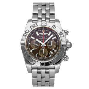 Breitling Brown Stainless Steel Chronomat Limited Edition AB01103A/Q620 Men's Wristwatch 44 MM