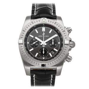 Breitling Grey Stainless Steel Chronomat B01 Chronograph 44 AB0115101F1P1 Men's Wristwatch 44 MM