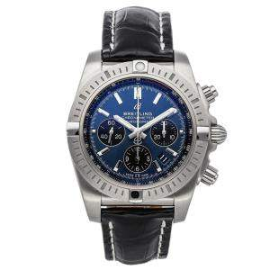 Breitling Blue Stainless Steel Chronomat B01 Chronograph AB0115101C1P4 Men's Wristwatch 44 MM