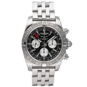 Breitling Black Stainless Steel Chronomat GMT AB042011/BB56 Men's Wristwatch 44 MM