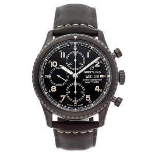 Breitling Black Stainless Steel Navitimer 8 Chronograph M13314101B1X1 Men's Wristwatch 43 MM