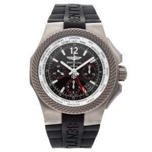 Breitling Black Titanium Bentley GMT Light Body B04S Eb043335/Bd78 Men's Wristwatch 45 MM