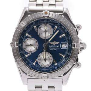 Breitling Blue Stainless Steel Chronomat A13352 Men's Wristwatch 39 MM