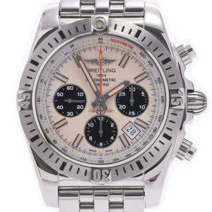 Breiltling White Stainless Steel Chronomat Airborne AB01154G Men's Wristwatch 44 MM