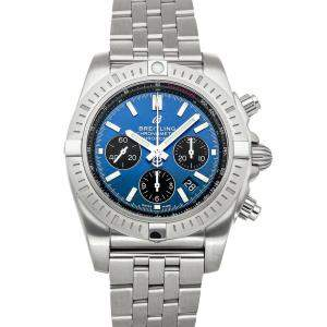Breitling Blue Stainless Steel Chronomat B01 Chronograph AB0115101/C1A1 Men's Wristwatch 44 MM