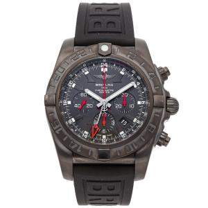 Breitling Black Blacksteel Chronomat GMT Limited Edition MB041310/BC78 Men's Wristwatch 47 MM