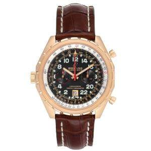 Breitling Black 18K Rose Gold Chronomatic Limited Edition H22360 Men's Wristwatch 45 MM