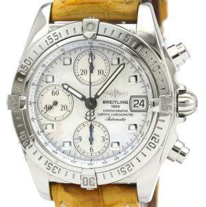 Breitling MOP Stainless Steel Chrono Cockpit Automatic A13357 Men's Wristwatch 39 MM
