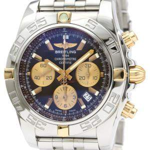 Breitling Brown 18K Yellow Gold And Stainless Steel Chronomat Automatic IB0110 Men's Wristwatch 44 MM