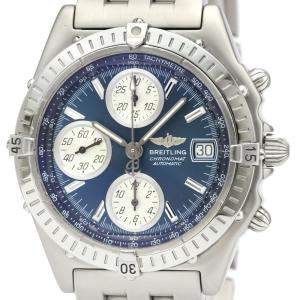 Breitling Blue Stainless Steel Chronomat Automatic A13350 Men's Wristwatch 40 MM