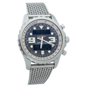 Breitling Grey Stainless Steel Chronospace A78365 Men's Wristwatch 48 mm