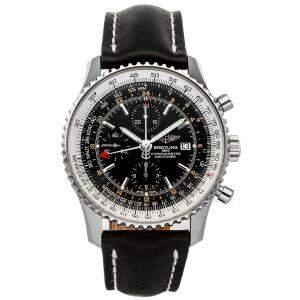 Breitling Black Stainless Steel Navitimer World A2432212/B726 Men's Wristwatch 46 MM