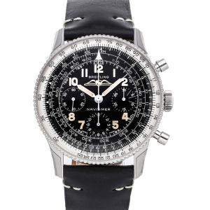 Breitling Black Stainless Steel Navitimer 806 1959 Limited Edition Ab0910371B1X1 Men's Wristwatch 41 MM